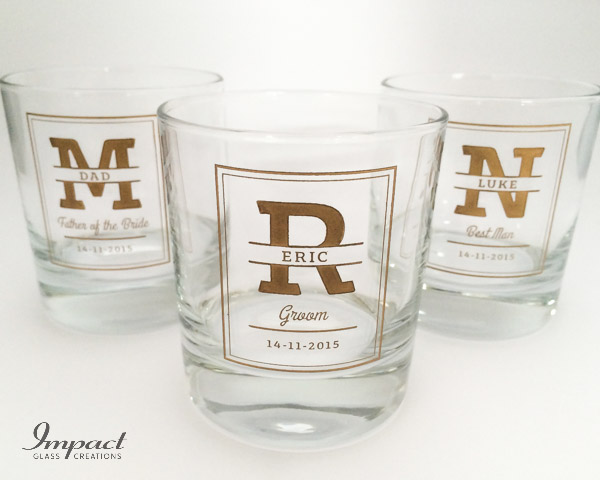 Groomsmen Scotch Glasses