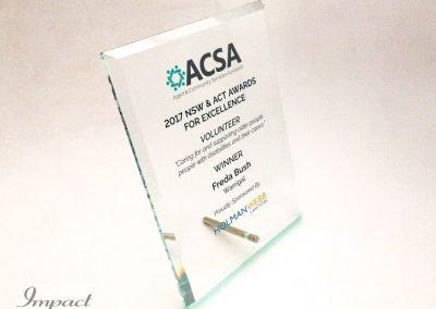ACSA Free Standing Plaque
