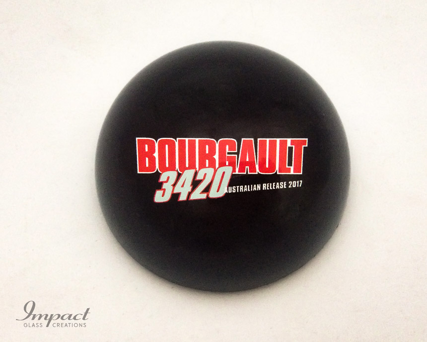 bourgault-crystal-glass-dome-paperweight-paper-weight-magnified-colour-printed