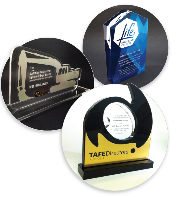 Examples of custom awards, gifts, paperweights, plaques and trophies