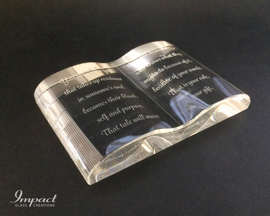 Crystal Book Gift