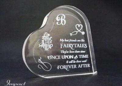 Crystal Heart Birthday Gift