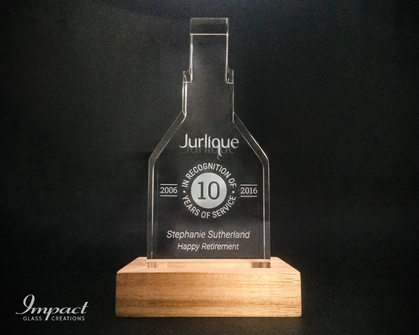 jurlique-years-service-award-cut-crystal-glass-wood-base-laser-engraved-2