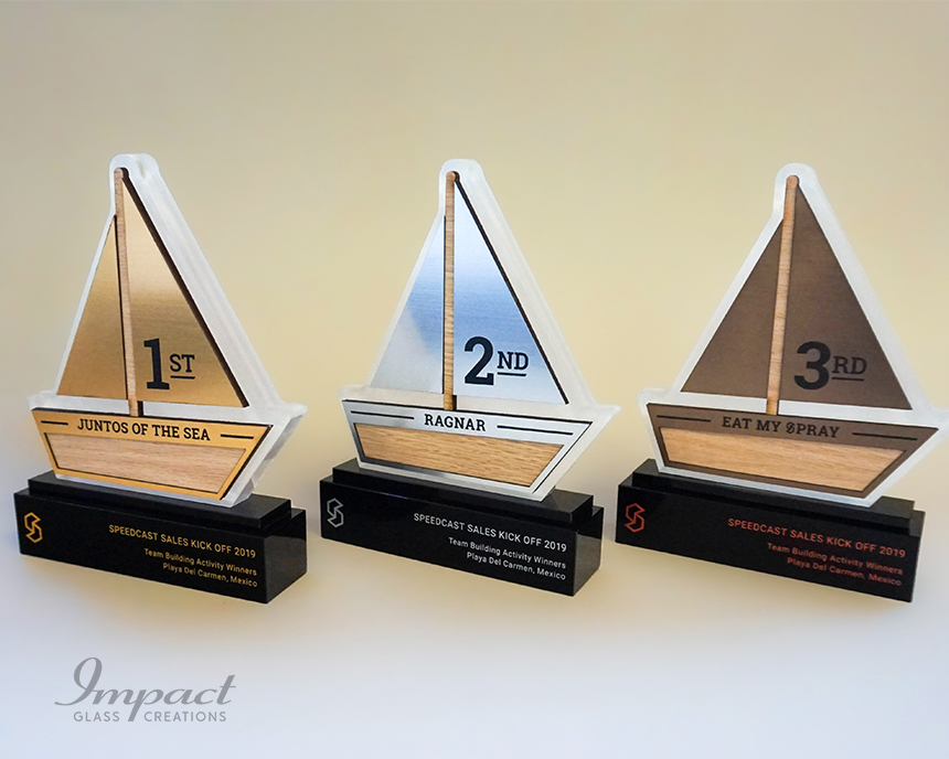 speedcast-team-building-boat-shaped-trophies-3