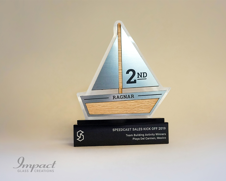 speedcast-team-building-boat-shaped-trophies-4