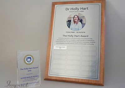 Holly Heart Perpetual Plaque