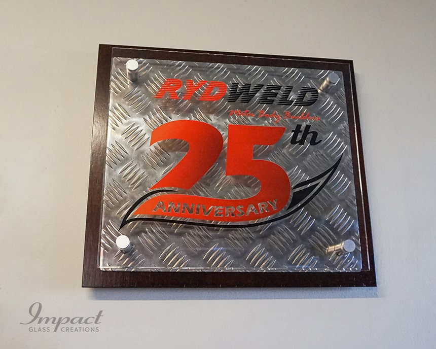 Rydweld Anniversary Wall Plaque