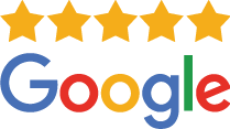 google 5 star review logo stacked