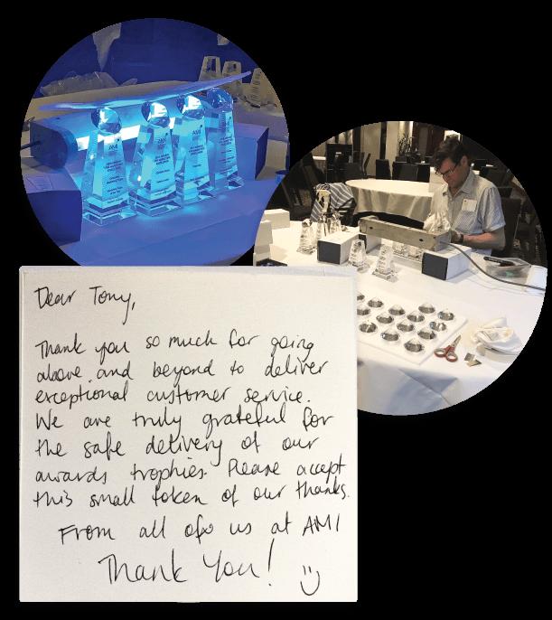 10 year service award impact glass creations