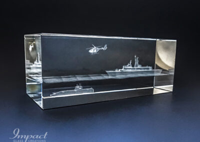 Defence Submarine 3D Paperweight