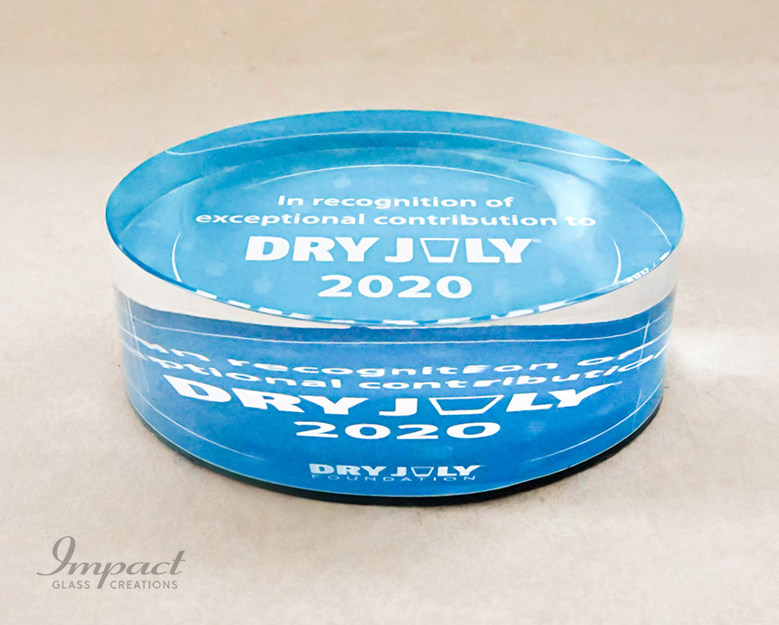 Dry July Paperweights Awards